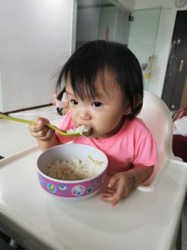 YY enjoying Dinner