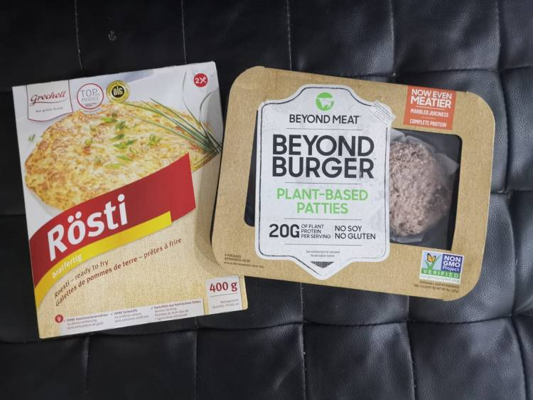 Rosti with Beyond Meat